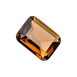Brown Emerald Glass Gem (single)