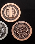 Atomic Age 1 Value Copper Coin Set