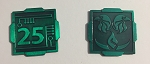 5 Piece Square Credit Green (25 value)