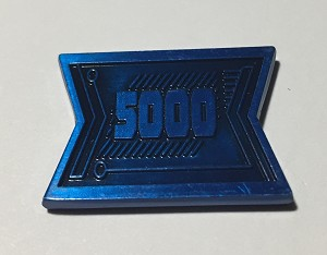 5000 Value Small Blue Credit Bars (Pack of 5)