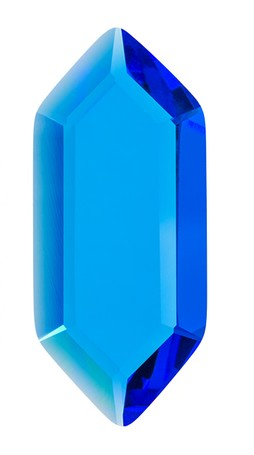 Blue Hex Gem (single)