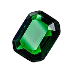 Green Emerald Glass Gem (single)
