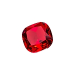 Red Cushion Glass Gem (single)