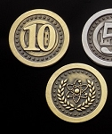 Atomic Age 10 Value Gold Coin Set