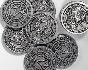 Aged Silver Fantasy Coins