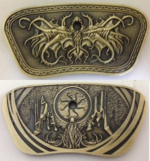 Small Antique Gold Cthulhu Bar