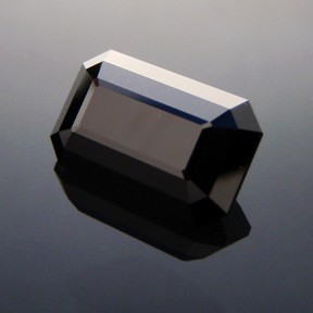 Black Emerald Glass Gem (single)