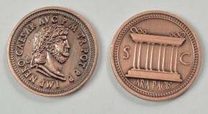 Aged Copper Fantasy Coins