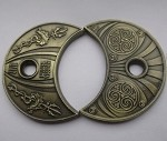 Water Helm Gold Crescent Coins